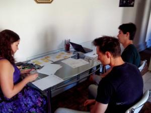 Equipe no Brainstorming