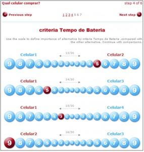 Criteria: Tempo de Bateria