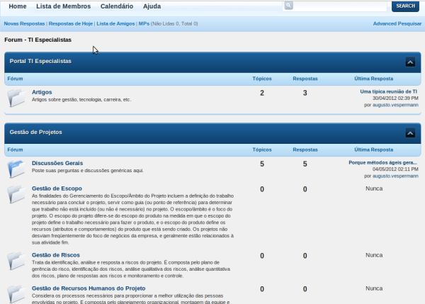 Forum - TI Especialistas