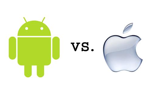 Briga entre Android e iOS mostra vantagem para o Google