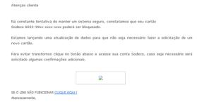 Este Phishing é um caso de um suposto cliente que está solicitando à empresa um suposto orçamento.