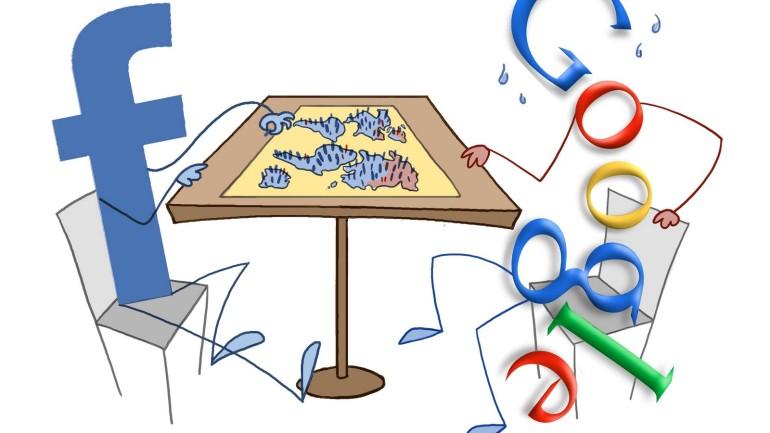 Quem esta ganhando mais a sua atenção: Google ou Facebook?