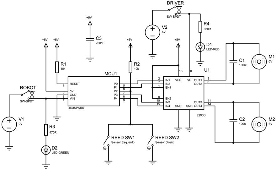 Figura 3 – Diagrama esquemático do Digibot.