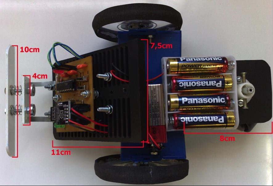 Figura 7 – Algumas medidas do chassi do Digibot.