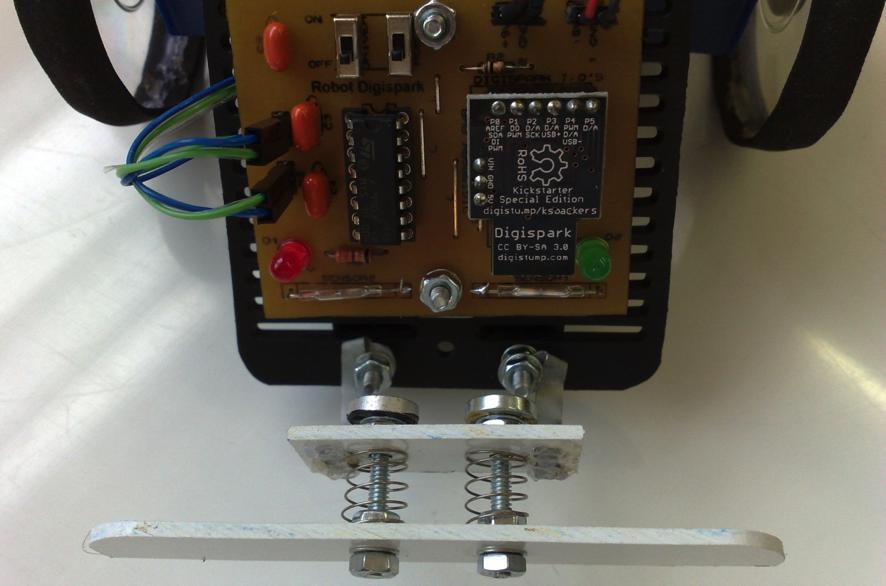 Figura 8 – Setor mecânico dos sensores do robô.