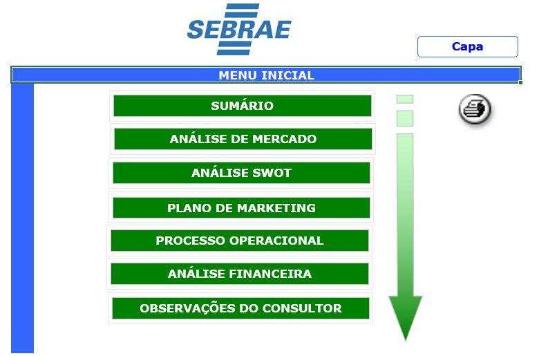 Capa/Guia do Modelo de Plano de Negócios Ex. (SEBRAE MG, 2015)