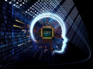 Figura - Homem e máquina - O machine learning é o futuro do serviço