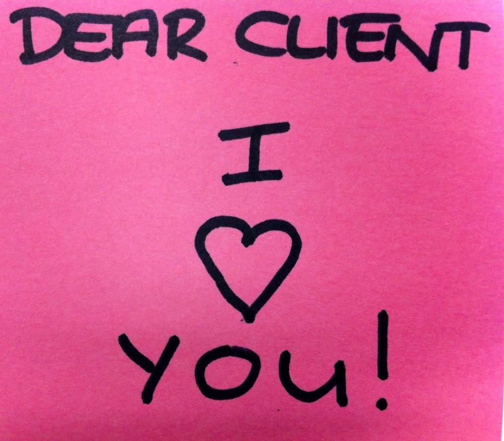 Cliente, eu te amo!