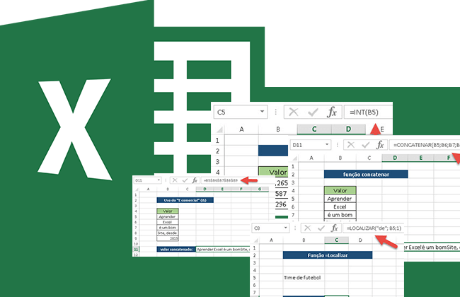 Uso de funções do Excel em relatórios dinâmicos