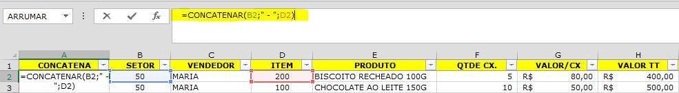 """O objetivo desta função é unir o """"código do setor"""" ao """"código do item"""" para utilizarmos no relatório consolidado."""
