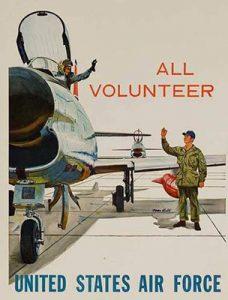 Cartaz convocando voluntários para a guerra do vietnã
